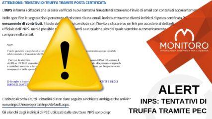 INPS: tentativi di truffa tramite posta certificata